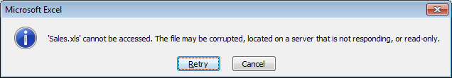 Corrupt Excel file recovery
